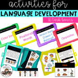 Vocabulary and Language Development Task Card Boxes
