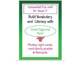 Vocabulary and Literacy for Autism VB/ABA with Green Eggs and Ham.