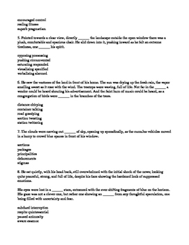 """The Story of an Hour,"" a Rewrite: SAT(like) Vocabulary Exercise"