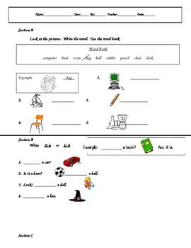Vocabulary and Sentence Structure