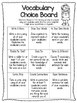 Vocabulary and Spelling Choice Boards