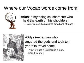 Vocabulary and Symbols from Mythology