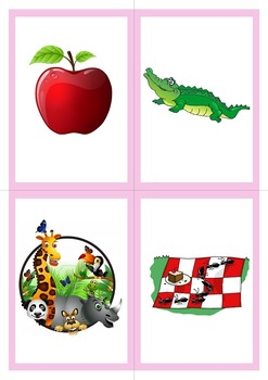 A-Z Vocabulary and Word Cards For SMALL A-Z Flashcards or Game Cards