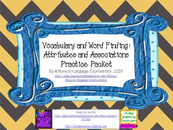 Vocabulary and Word Finding Practice