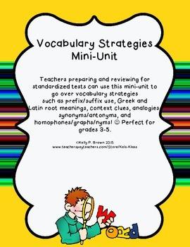 Vocabulary and Word Strategies Mini-Unit