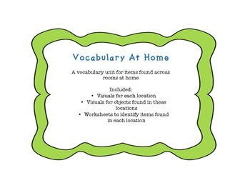 Vocabulary at Home Unit