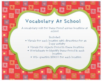 Vocabulary at School Unit