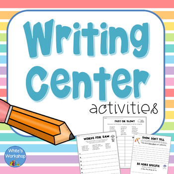 Writing and Vocabulary Center Activities