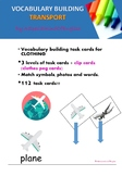 Vocabulary building task cards - TRANSPORT