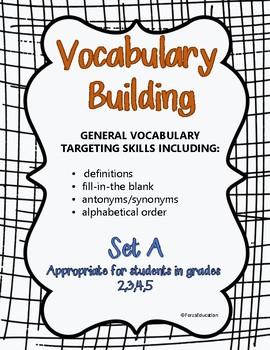 Vocabulary building through language skills- set A