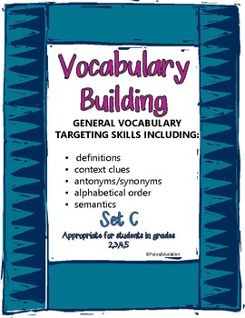 Vocabulary building through language skills- set C