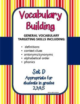 Vocabulary building through language skills- set D