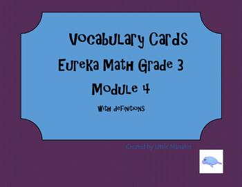 Vocabulary cards Eureka Math Module 4 Grade 3