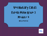 Vocabulary cards Eureka Math Module 4 Grade 3
