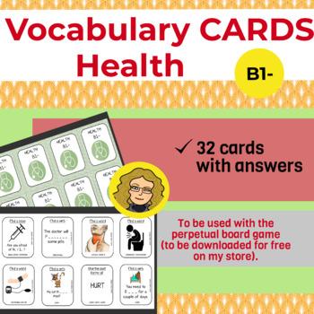 Vocabulary cards : Health (B1-)