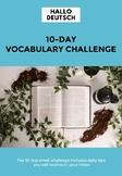 Vocabulary challenge notebook