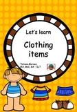 Vocabulary - clothing items