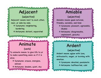 Vocabulary enrichment