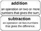 Vocabulary for 3rd grade Math