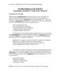 Vocabulary for 5th Grade Reading Wonders Unit 3 week 1