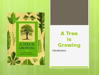 Vocabulary for A Tree is Growing: Journey's Lesson 18