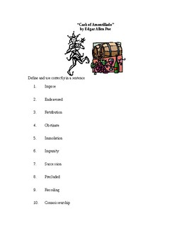 Vocabulary for Cask of Amontillado