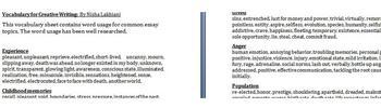 Vocabulary for Common Essay Topics 1
