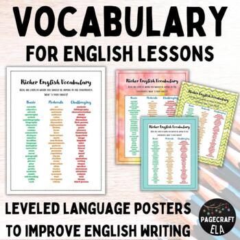 Vocabulary for English Lessons