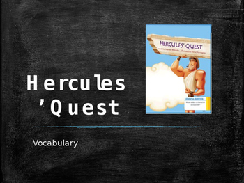 Vocabulary for Hercule's Quest: Journey's Lesson 18
