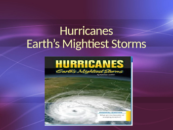 Vocabulary for Hurricanes Earth's Mightiest Storms; Journey's Lesson 11