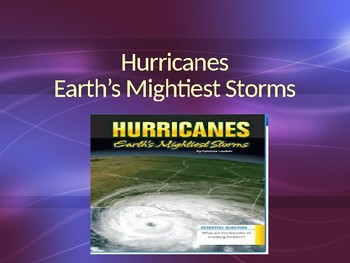 Vocabulary for Hurricanes Earth's Mightiest Storms: Journey's Lesson 11