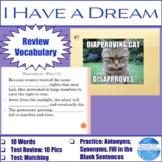 """Vocabulary for """"I Have a Dream"""""""