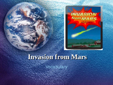 Vocabulary for Invasion from Mars: Journey's Lesson 6