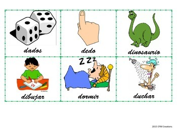 Vocabulary for Letter D in Spanish!