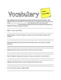 Vocabulary for Pre-Unit Biology
