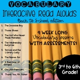 Vocabulary for Read Alouds--Back to School Edition