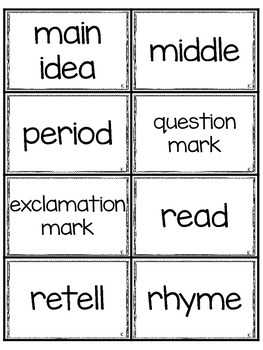 Vocabulary for State Standards