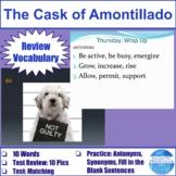 "Vocabulary for ""The Cask of Amontillado"" by Edgar Allan Poe"