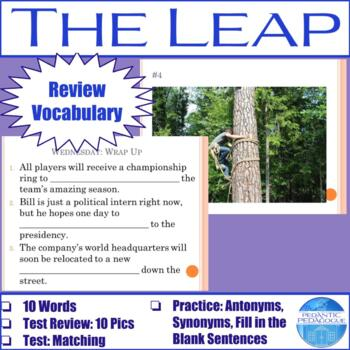 """Vocabulary for """"The Leap"""" by by Louise Erdrich"""