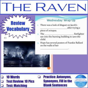 """Vocabulary for """"The Raven"""" by Edgar Allan Poe"""