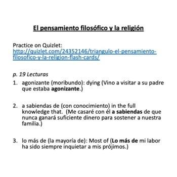 Vocabulary for Triángulo Aprobado, Los desafíos mundiales, for AP Spanish