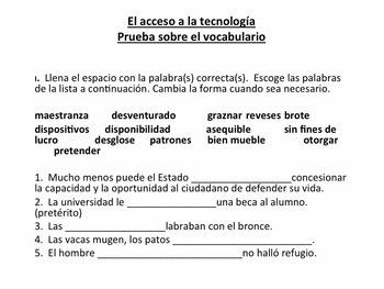 Vocabulary for Triángulo Aprobado for AP Spanish: la ciencia y la tecnología