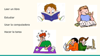 Vocabulary for Verbs/Activities to use with Gustar - Spanish