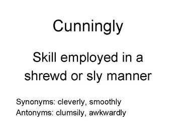 Vocabulary for Wonder
