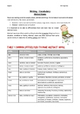 Vocabulary for Writing - Abstract Noun