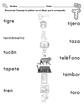 Vocabulary for Writing Center (Matching)