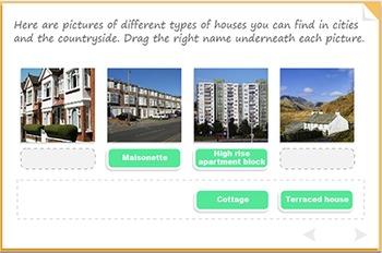 Vocabulary for houses