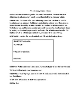 Vocabulary for standardized testing, HiSET, GED, ACT, SAT, TABE