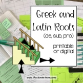 Vocabulary from Roots, de, sub, pro (distance learning option)