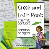 Vocabulary from Roots, port, mis, mit, ion (distance learning option)